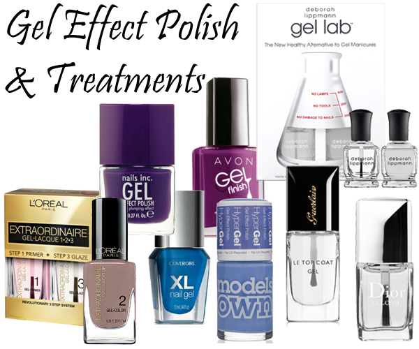 Gel Effect Nail Polish, Top Coats and Treatments via @AllLacqueredUp