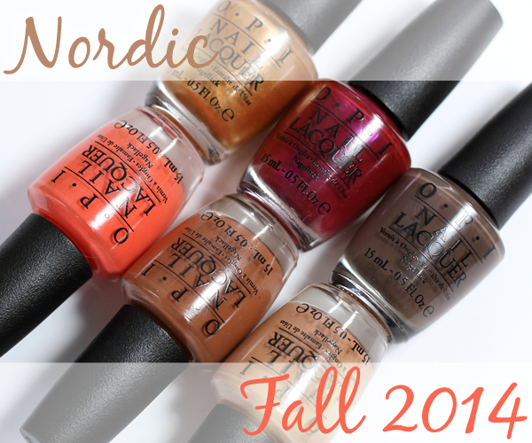 OPI Fall 2014 Nordic collection swatches and review via @AllLacqueredUp