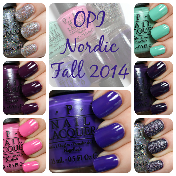 OPI Fall 2014 Nordic swatches via @AllLacqueredUp