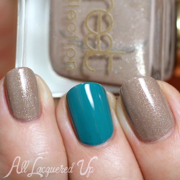 Treat Accent Nail Manicure via @AllLacqueredUp
