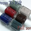 Essie Fall 2014 Dress To Kilt Swatches & Review
