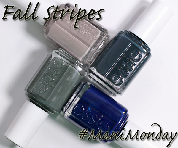 Essie Fall 2014 Striped Nail Art via @alllacqueredup
