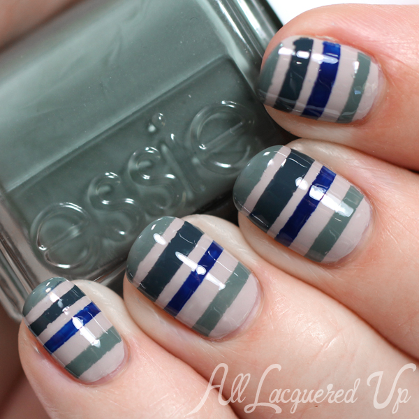 Fall Stripe Nail Art via @alllacqueredup