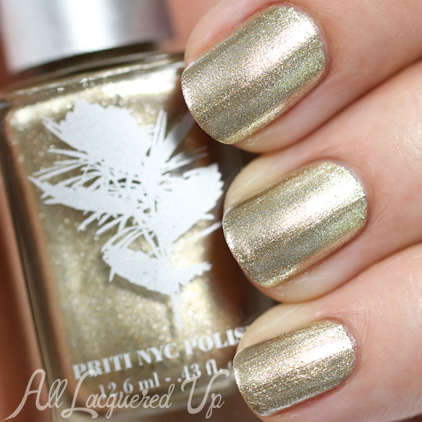 Priti NYC Chrysanthos swatch via @alllacqueredup