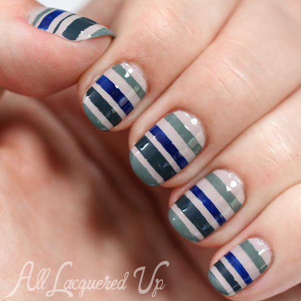 Essie fall 2014 striped nail art for manimonday all lacquered up essie fall 2014 striped nail art prinsesfo Image collections