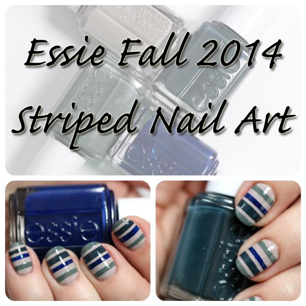 Striped Nail Art using Essie Fall 2014 via @alllacqueredup