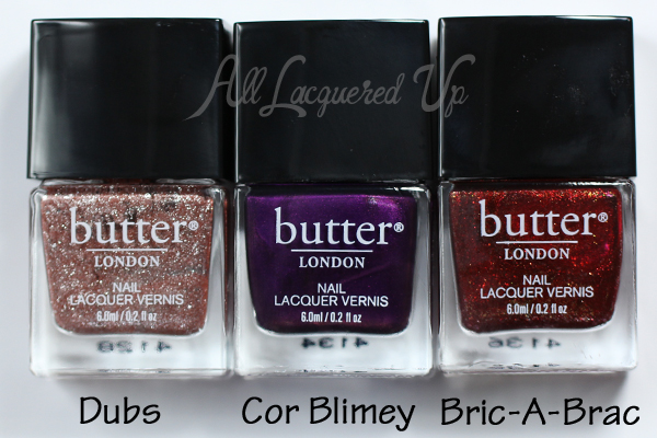 butter LONDON Dubs, Cor Blimey and Bric-A-Brac via @alllacqueredup