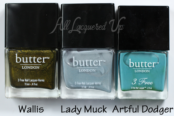 butter LONDON Wallis, Lady Muck, Artful Dodger via @alllacqueredup