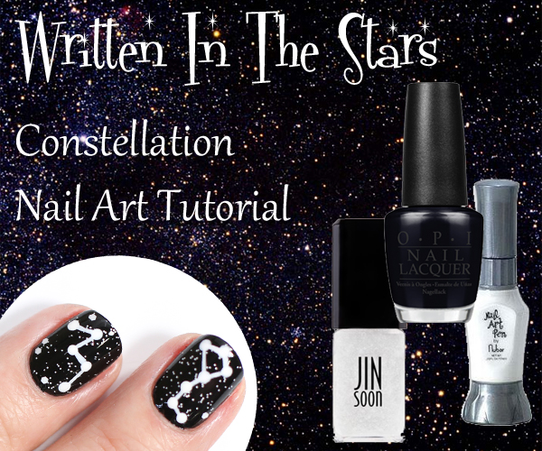 Simple Constellation Nail Art: Constellation Nails And Tutorial Inspired By Nail'd It