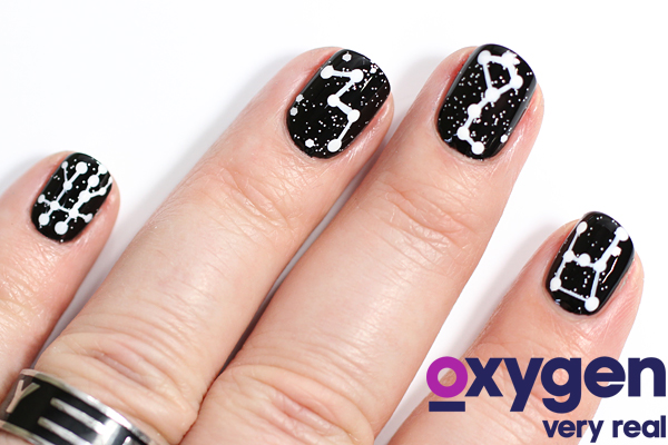 Star Astrological Nail Art via @alllacqueredup