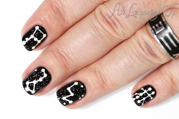 Star Sign Nail Art via @alllacqueredup