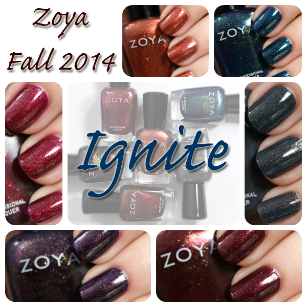 Zoya Fall 2014 Ignite collection swatches via @alllacqueredup