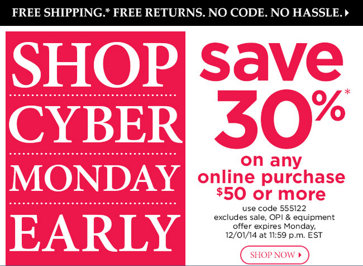 Sally Beauty Cyber Monday 2014 via @alllacqueredup
