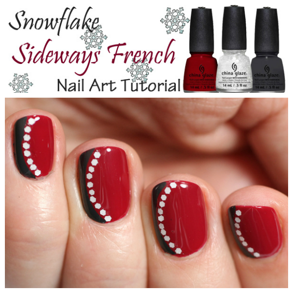 Sideways French Manicure Tutorial via @alllacqueredup