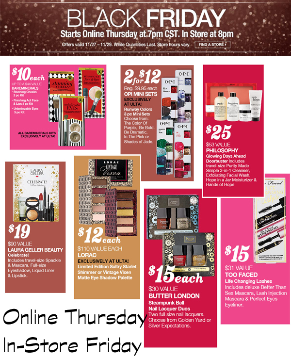 ULTA Black Friday 2014 via @alllacqueredup