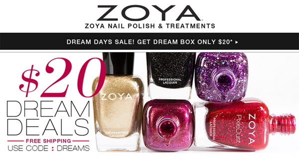 Zoya Dream Deals via @alllacqueredup
