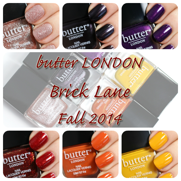 butter LONDON Brick Lane Fall 2014 collection via @alllacqueredup