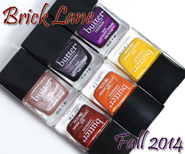 butter LONDON Fall 2014 Brick Lane Collection Swatches