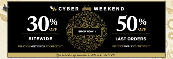 butter LONDON Cyber Monday 2014 via @alllacqueredup