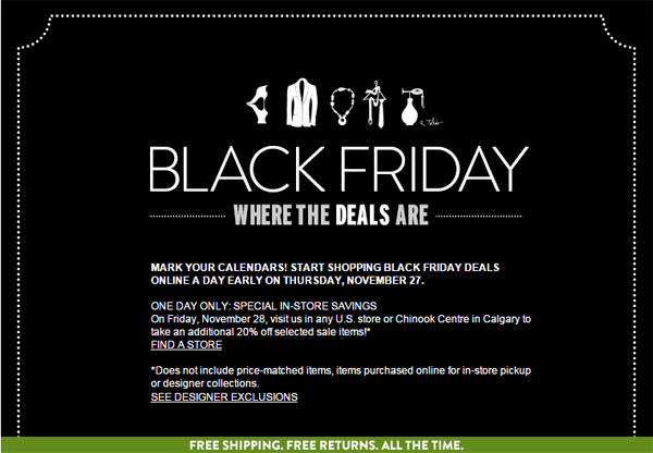 Nordstrom Black Friday 2014 via @alllacqueredup