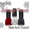 Snowflake Sideways French Manicure Nail Art Tutorial