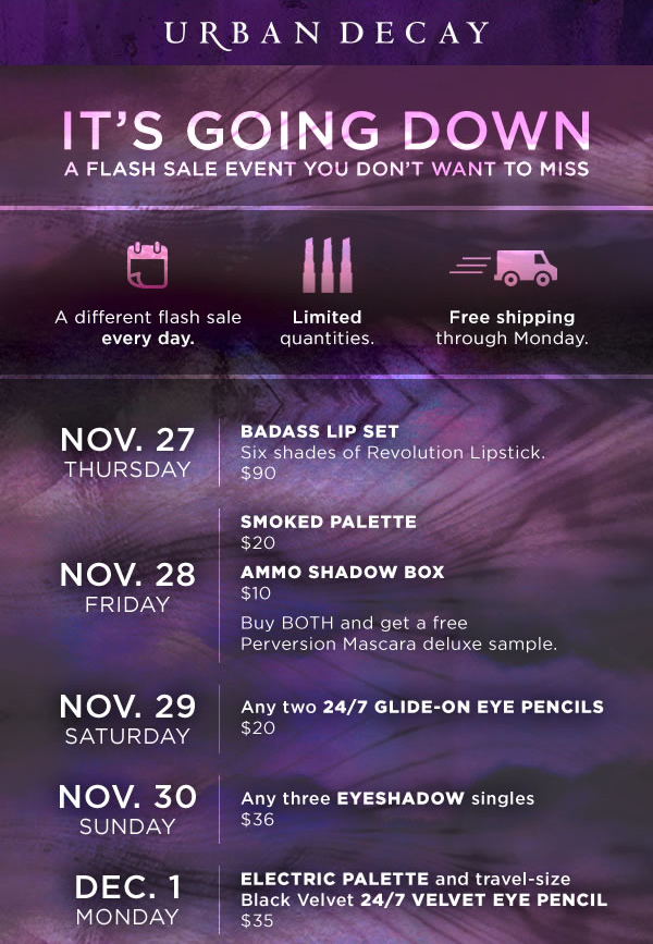 Urban Decay Black Friday 2014 via @alllacqueredup