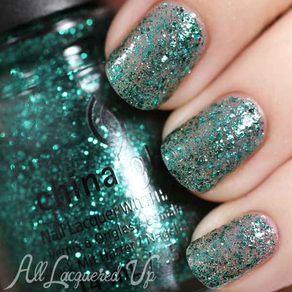 China Glaze Pine-ing For Glitter - Holiday 2014 via @alllacqueredup