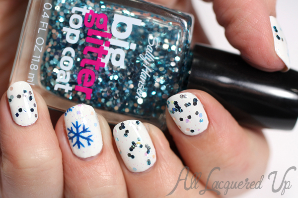 DIY Nail Decals - Snowflake Nails via @alllacqueredup