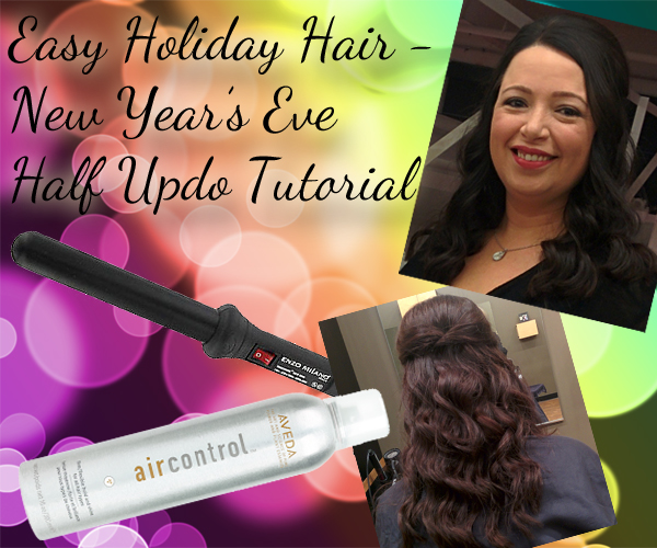 Easy and  Simple Hairstyle for Holidays - Half Updo via @alllacqueredup