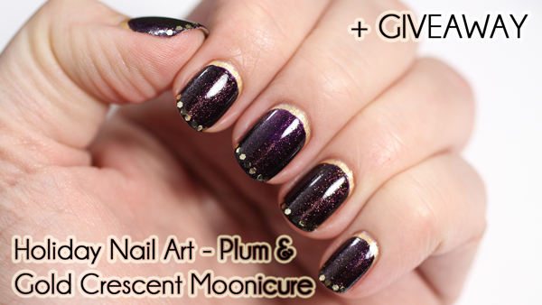 Holiday Nail Art Tutorial - Crescent Moonicure via @alllacqueredup