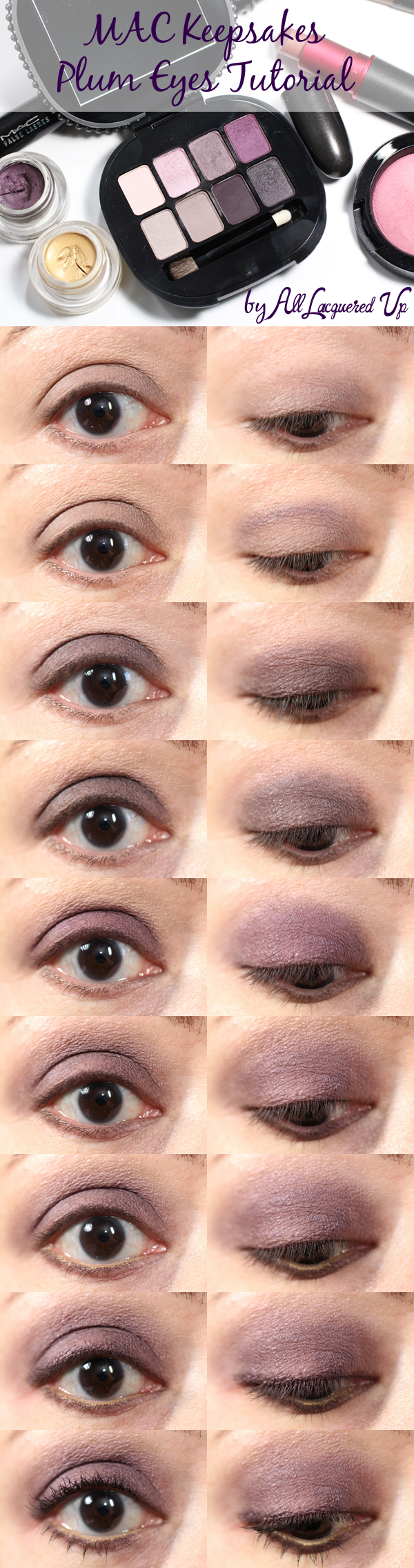 MAC Holiday Keepsakes Plum Eyes Tutorial via @alllacqueredup