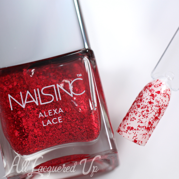 Nails Inc Alexa Lace Glitter via @alllacqueredup