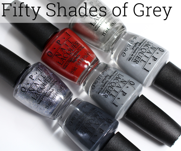 Opi fifty shades of grey swatches review all lacquered for Fifty shade of grey