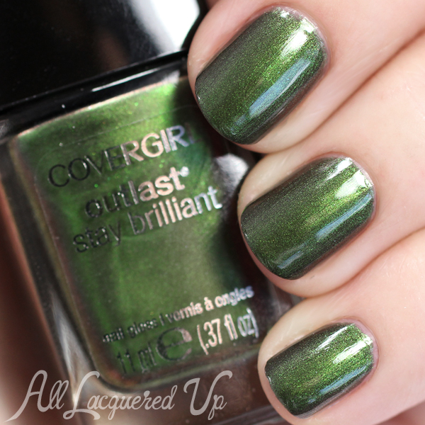 COVERGIRL Emerald Blaze swatch via @alllacqueredup