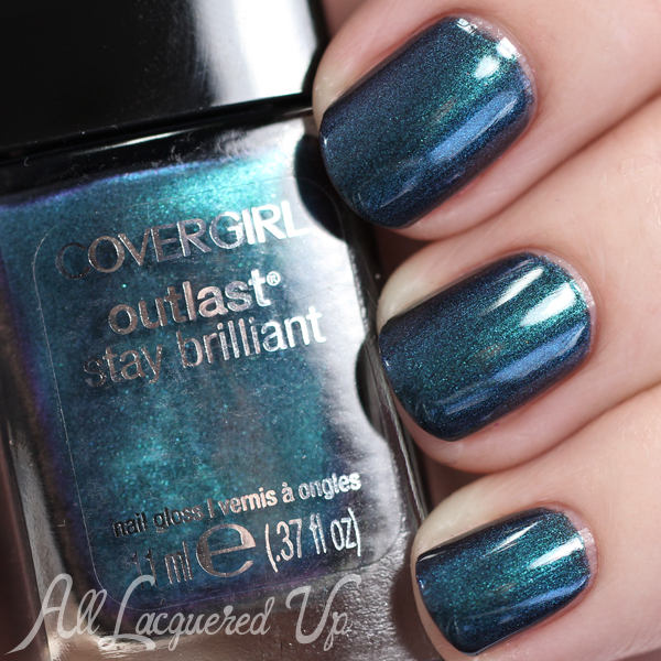 COVERGIRL Teal On Fire swatch via @alllacqueredup