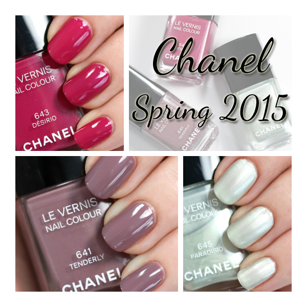 Chanel Spring 2015 nail swatches via @alllacqueredup