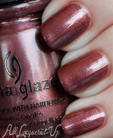Marsala Nail Polish - China Glaze Hey Doll via @alllacqueredup