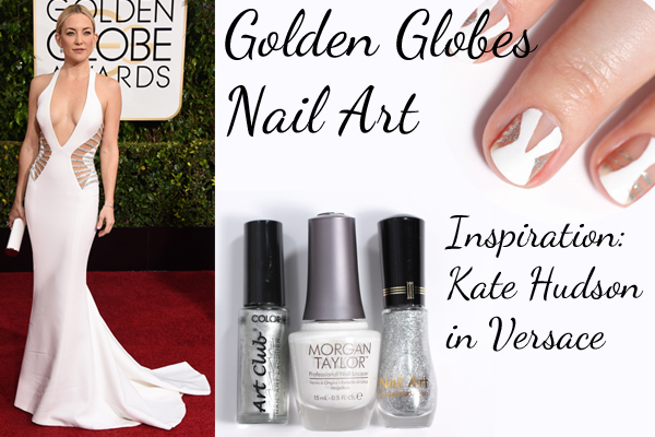 Golden Globes 2015 – Negative Space Nails Inspired by Kate Hudson in Versace