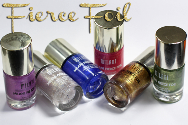 Milani Fierce Foil Nail Lacquer review via @alllacqueredup