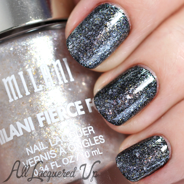 Milani Fierce Foil Sardinia over black via @alllacqueredup
