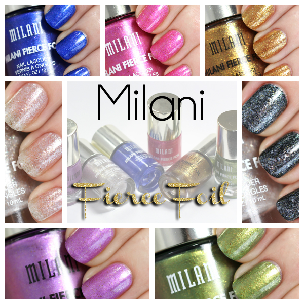 Milani Fierce Foil nail swatches via @alllacqueredup