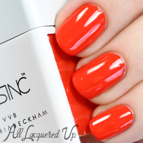 Nails Inc Judo Red swatch via @alllacqueredup