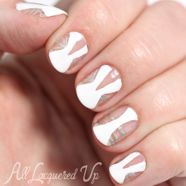 Negative Space Nail Art - Golden Globes 2015 via @alllacqueredup
