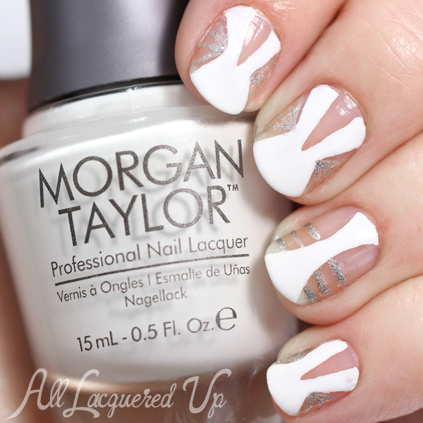 Negative Space Nail Art via @alllacqueredup