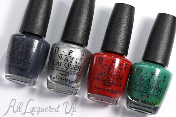 OPI Fifty Shades of Grey nail polish via @alllacqueredup