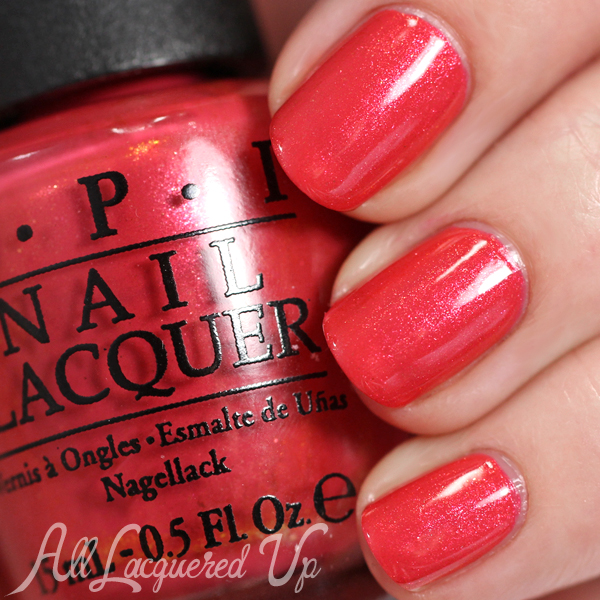 OPI Go With The Lava Flow swatch - Spring 2015 Hawaii via @alllacqueredup