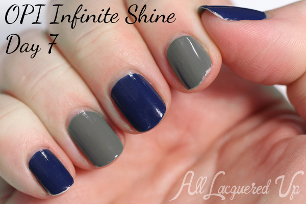 OPI Infinite Shine Wear Test via @alllacqueredup