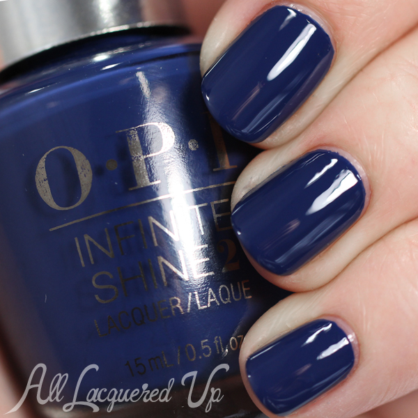 OPI Infinite Shine swatch Get Ryd-of-thym Blues via @alllacqueredup