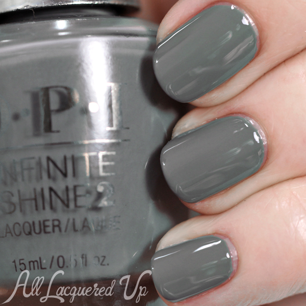 OPI Infinite Shine swatch Steel Waters Run Deep via @alllacqueredup