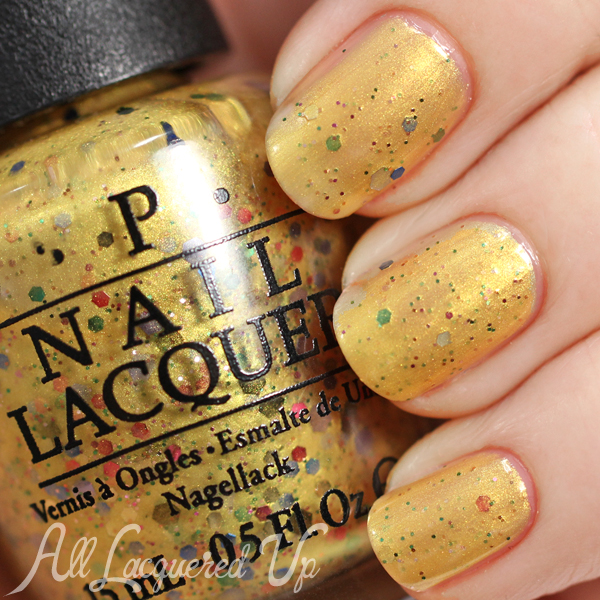 OPI Pineapples Have Peelings Too swatch - Spring 2015 Hawaii via @alllacqueredup